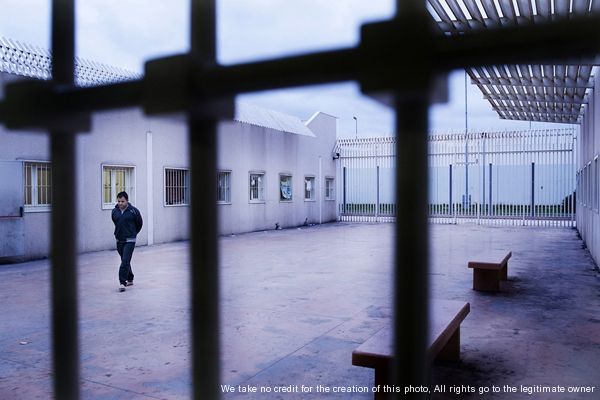 Bari, Italy - March 27, 2012 - Detention center for immigrants.Ph.Giulio Piscitelli